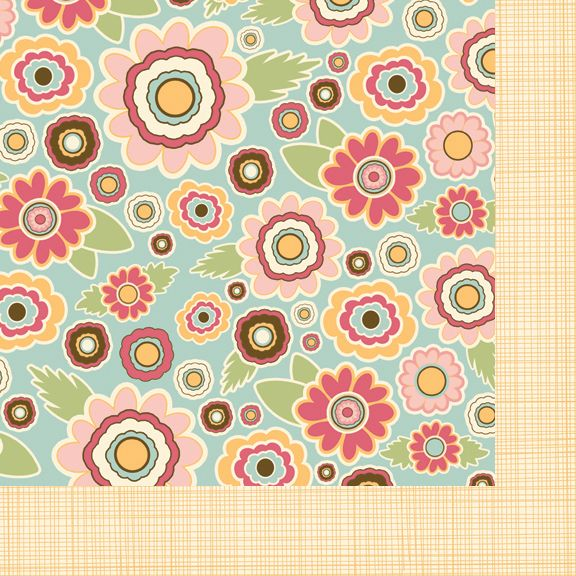 Fancy Pants Designs - Its Time for Spring Collection - 12 x 12 Double Sided Paper - Spring Floral at Scrapbook.com $0.89