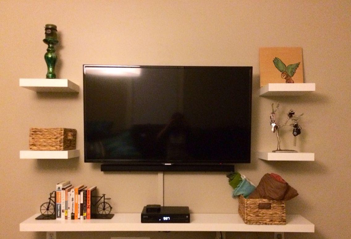 Not an entertainment center ikea floating shelves k