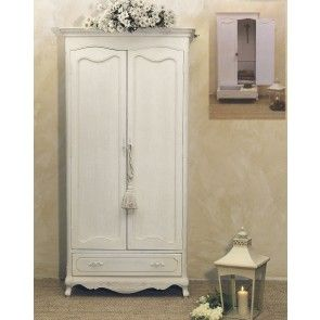 Armadio 2 ante in legno bianco shabby | MY FORNITURE | Pinterest