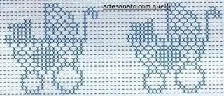 artesanato com quelli: gráficos de ponto oitinho