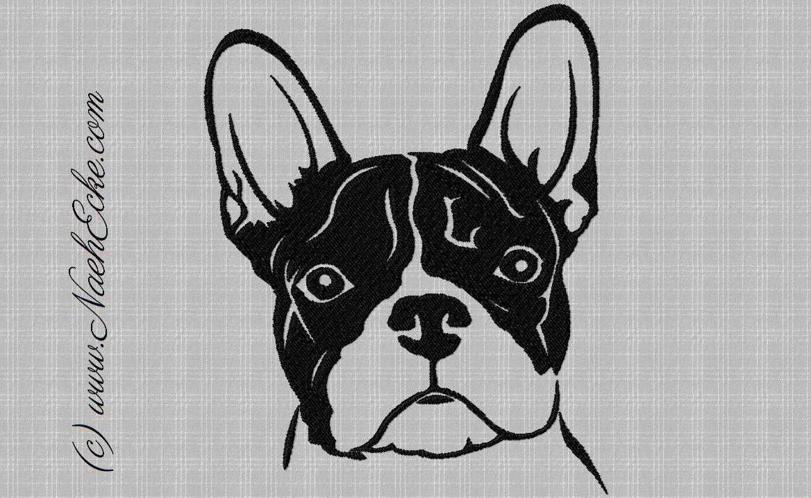 Stickdatei Franzosische Bulldogge Von Naehecke Auf Etsy Sticken Franzosische Bulldogge Stickdateien