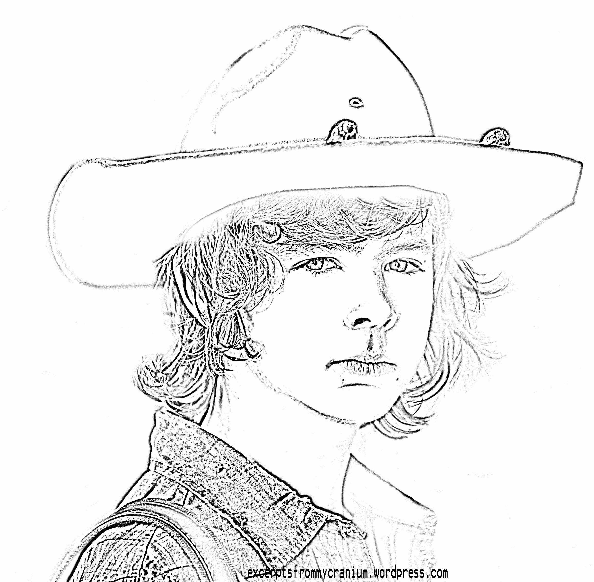 Walking Dead Coloring Book Beautiful Walking Dead Carl Coloring