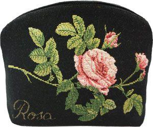 Trousse noire rosa centifolia