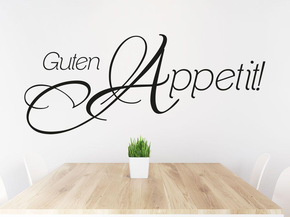 Wandtattoo Guten Appetit Auf Küchenwand