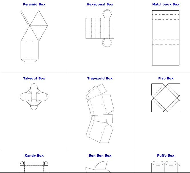 All sorts of free box patterns great for recycling paper and - copy blueprint paper free
