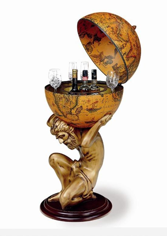 Classic Liquor Storage Zeus Globe Bar For Unique And Original Home Decor
