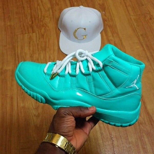 hot sale online c79a9 d7a57 Custom Air Jordan 6s Blue/White | Kicks | Pinterest ❤ liked ...