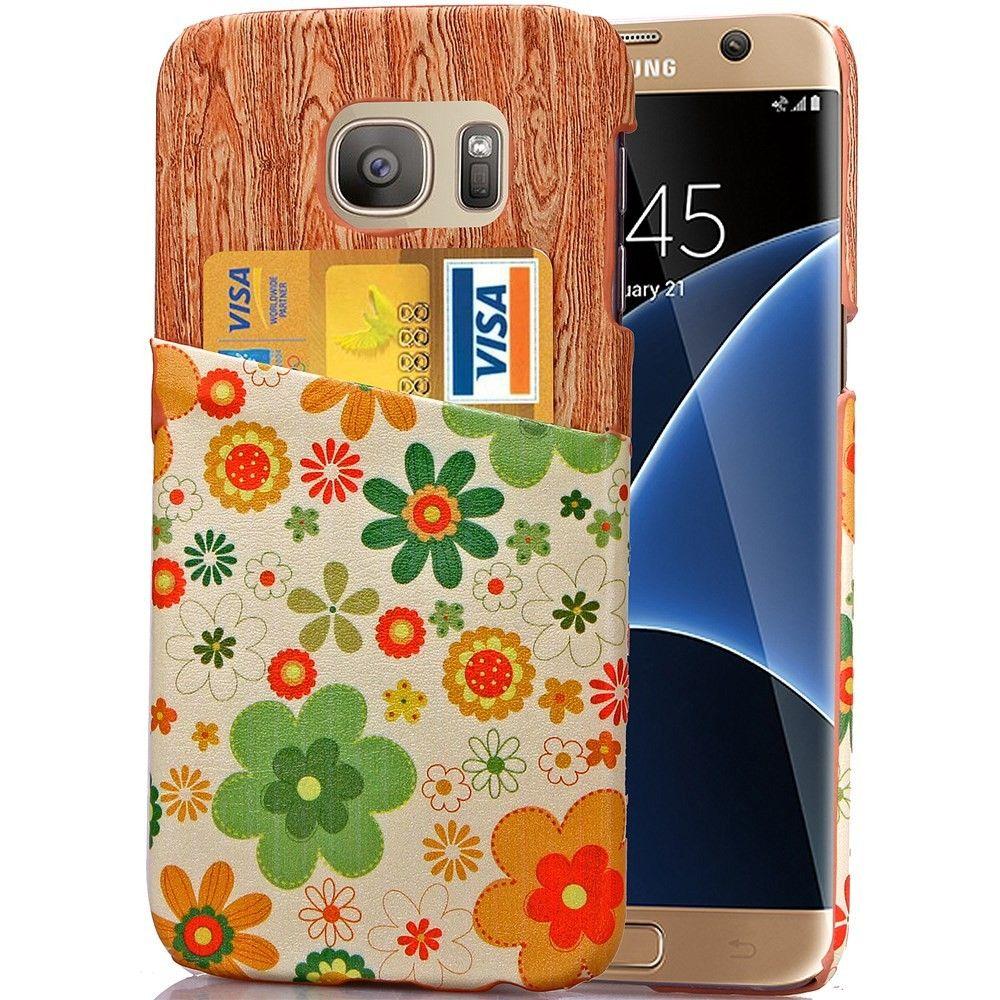 Coque Samsung Galaxy S7 edge Rigide Green Flowers