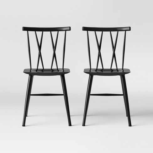Becket Metal X Back Dining Chair Black Project 62 With Images