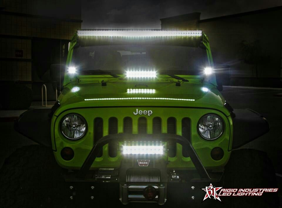 Neon Green JK with Rigid Lighting & Neon Green JK with Rigid Lighting | Rigid Industries Off-Road ... azcodes.com
