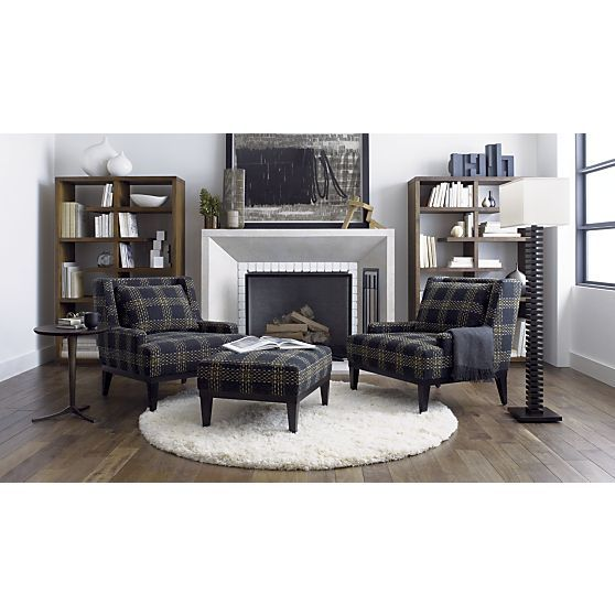 Donegal Chair in Chairs | Crate and Barrel | Plaid Style ...