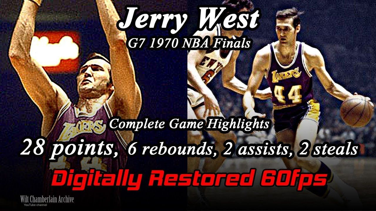 Jerry West (Digitally Restored 60fps). 1970 NBA Finals G7