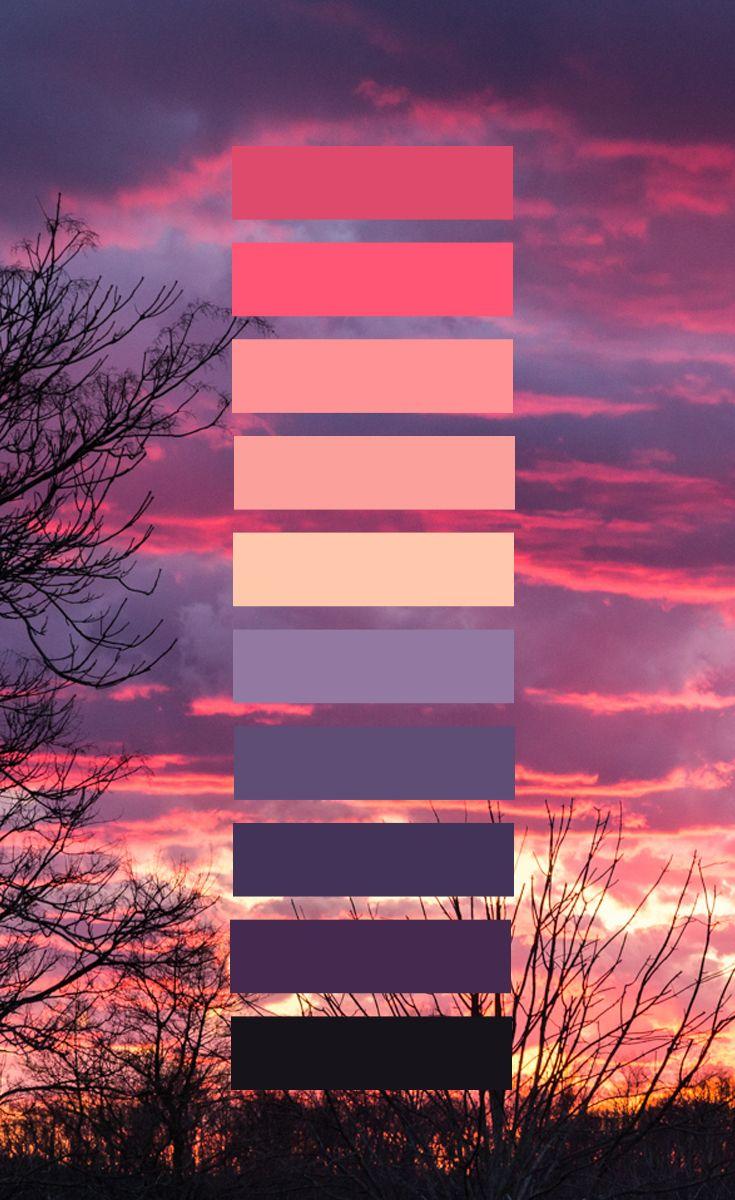 Color Scheme Dee Red Sunset Megan Renee Jpg Flat Color
