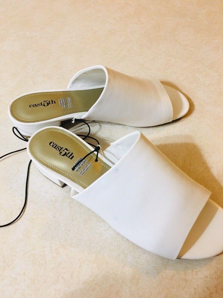 Womens White Dress Slide Sandals