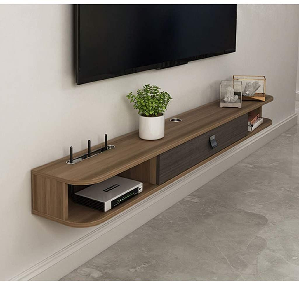 Wall Media Audio Console Floating, Cable Box Storage Cabinet