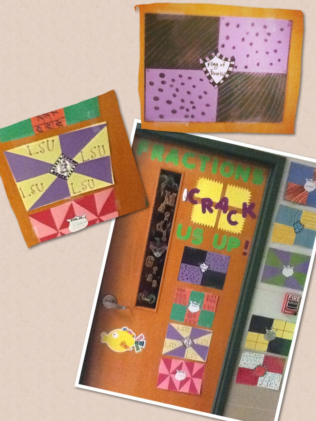 Fraction Flags Last School Year Ms Broome S Class Made