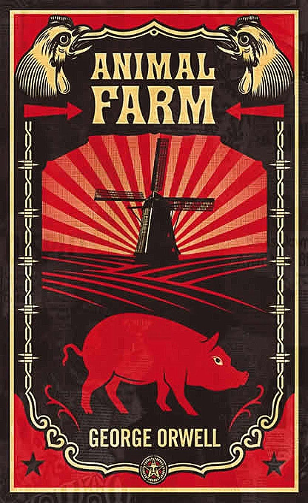 Shepard Farey Animal farm book, Animal farm