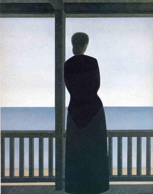 Woman by The sea 1973 Will Barnet