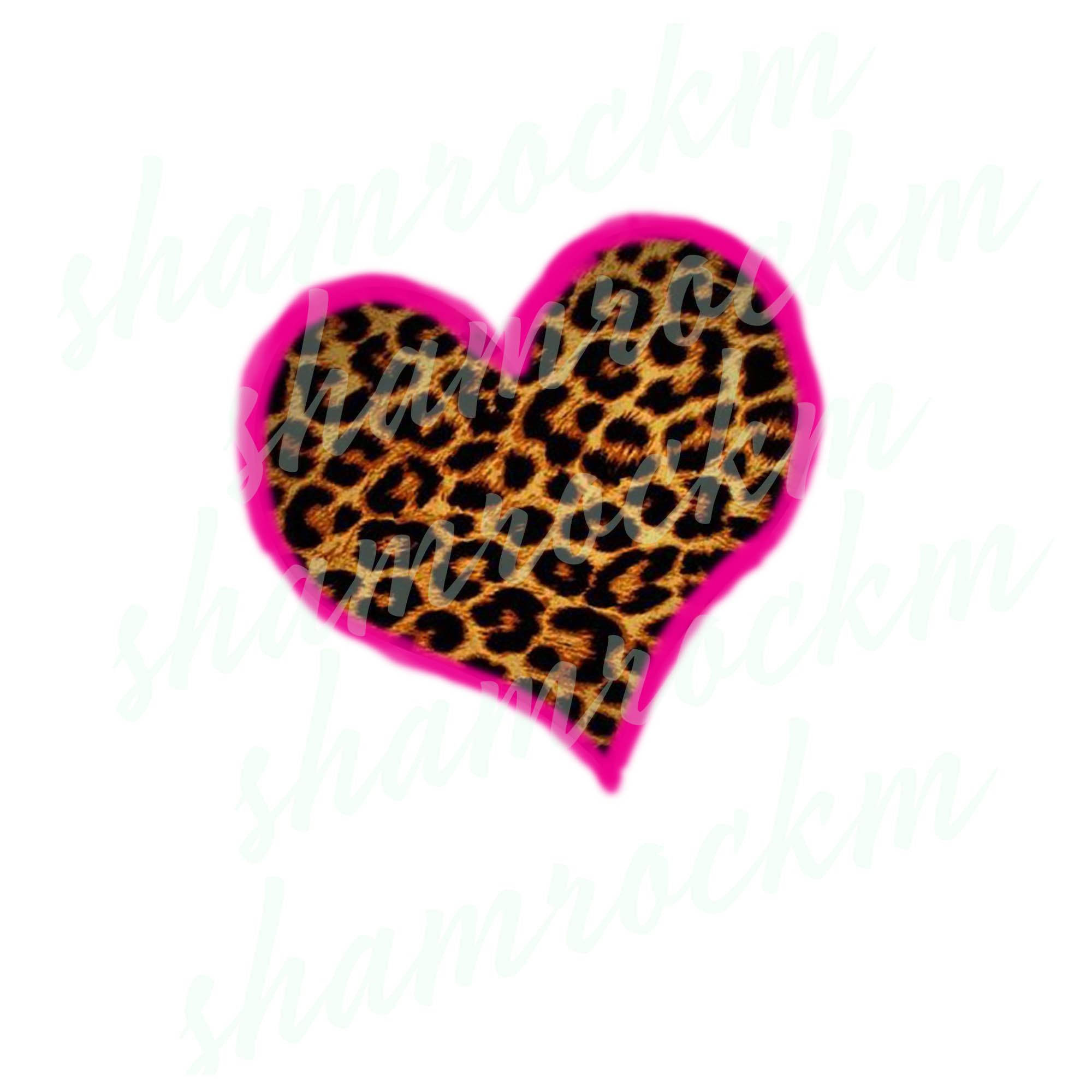 Cheetah Heart With Pink Edge Png Images With Transparent Etsy In 2021 Homemade Valentines Valentines Printables Pink