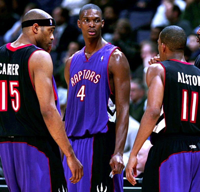 buy cheap 6352e d461e Vince Carter, Chris Bosh & Rafer Alston, Toronto Raptors ...