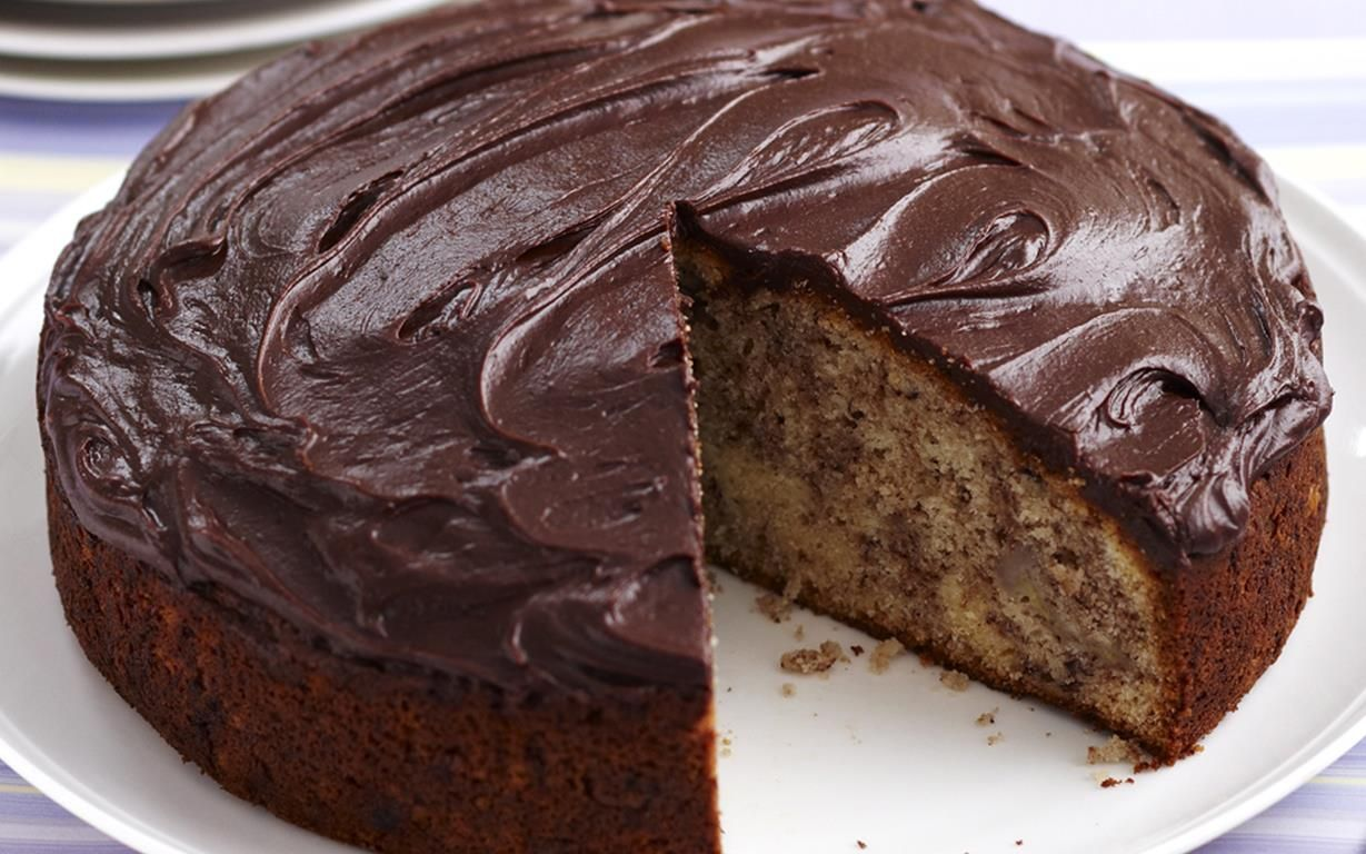 Chocolate banana cake Yummy Sweets Pinterest Bananas