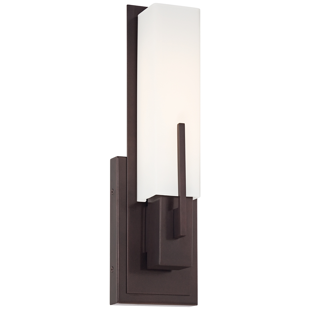 Possini Euro Design Midtown 15 High Bronze Led Wall Sconce Style