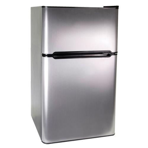 Haier 3 3 Cu Ft Dual Door Bar Fridge Hnde03vs Compact Refrigerator Bar Fridges Small Refrigerator