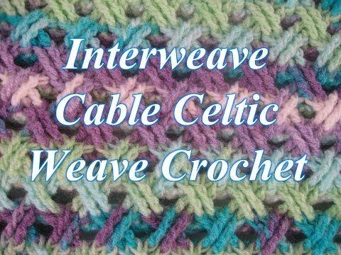 Punto Entrecruzado en Crochet o puntada celta - con Video ...