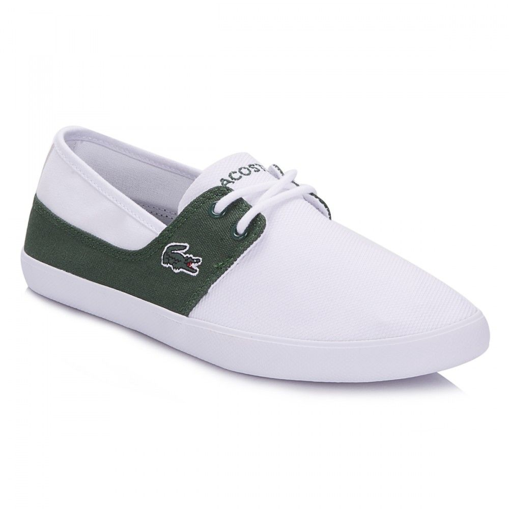 Lacoste Mens White/Dark Green Marice Lace 116 Trainers