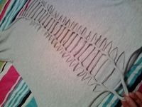 "How to - cut up old t-shirts. Sounds fun. I have a few t-shirts I'm going to ""kill"" for projects."