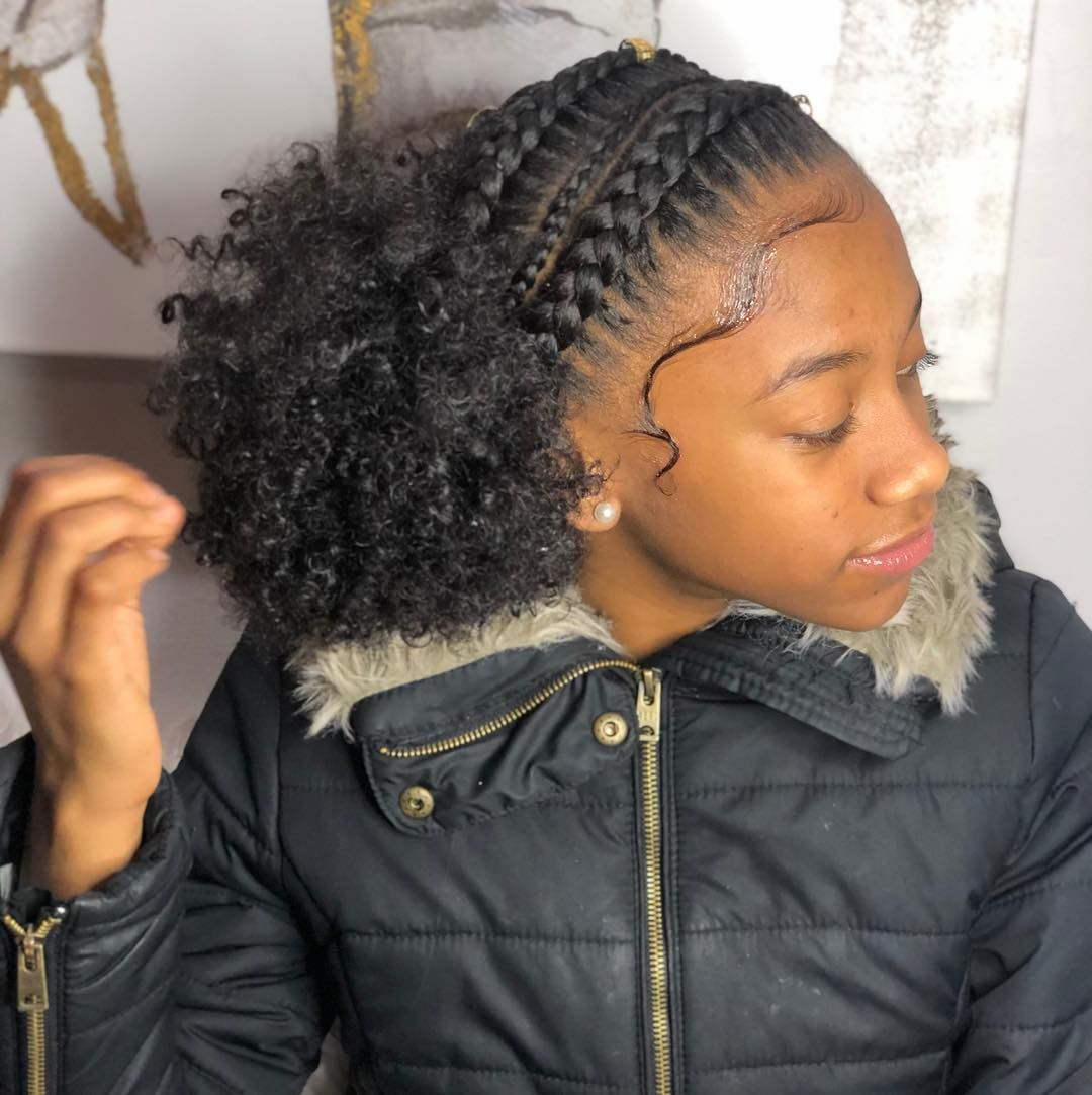 Image May Contain 1 Person Closeup Easy Black Girl Hairstyles
