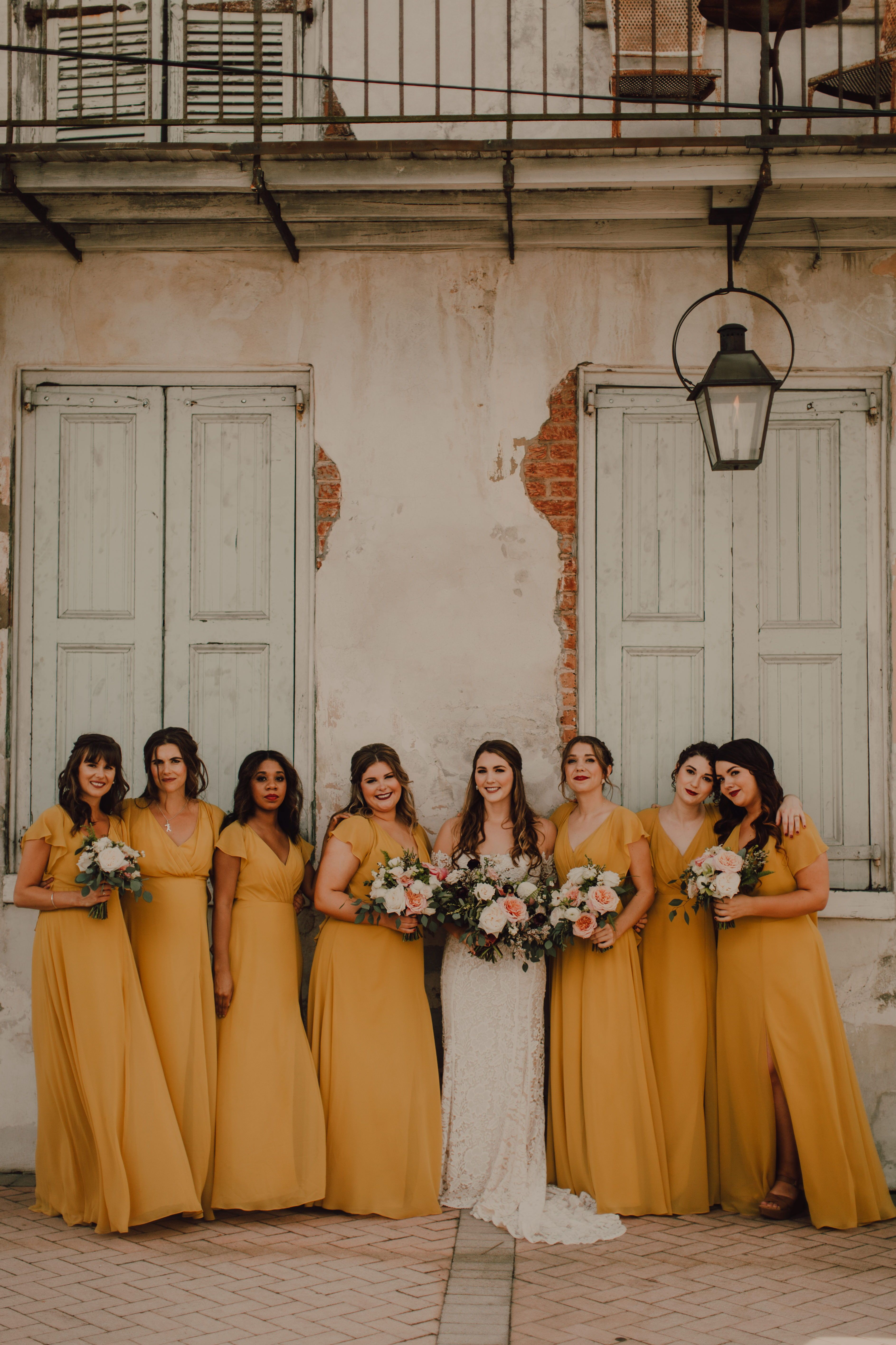 Mustard Yellow Bridesmaids The Alanna Dress Features Flutter Sleeves That Create A Roman Yellow Bridesmaid Dresses Fall Bridesmaid Dresses Yellow Bridesmaids [ 5659 x 3773 Pixel ]