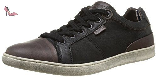 Loch, Baskets Basses Homme, Noir (Regular Black), 40 EULevi's
