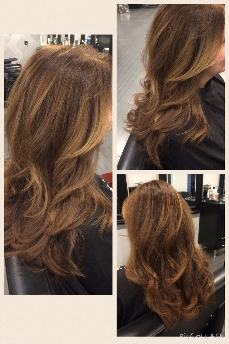 Warm Dark Blonde Color With Golden Highlights Balayage Hair