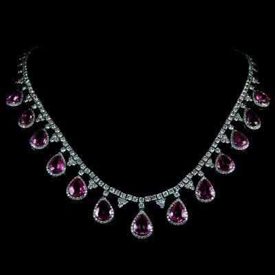 pink diamond necklace pink sapphire and diamond necklace