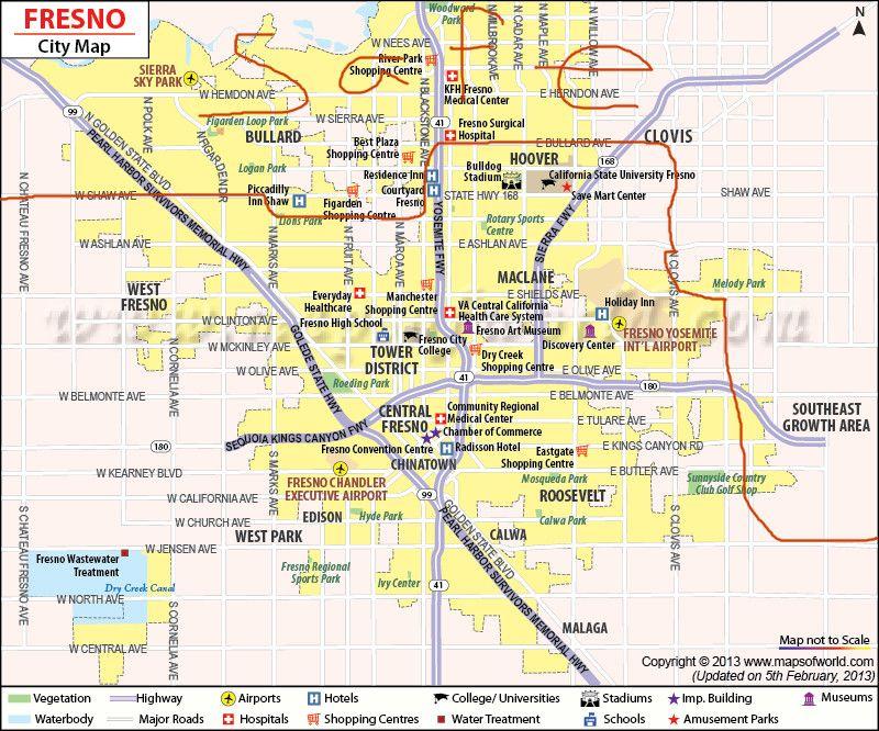 Where Are The Bad Parts Of Fresno San Diego Clovis Apartment Complexes Fresno City California Map Fresno California