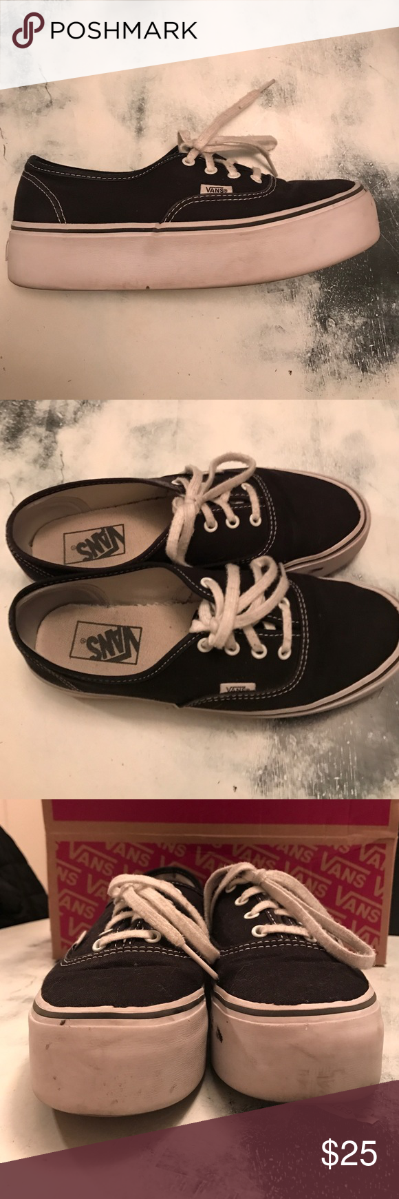 BLACK AUTHENTIC PLATFORM 2.0 These vans obviously are aged 0af88834c