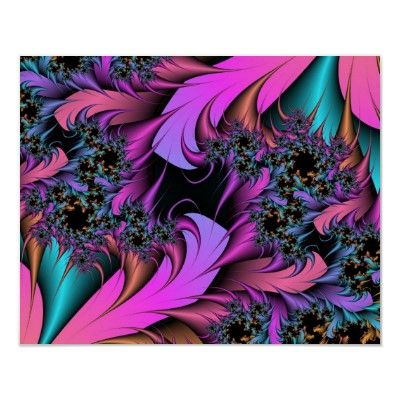 Girly Feathers Fractal Art Poster by MousefxArt.Com. #fractals #girly #pink #posters