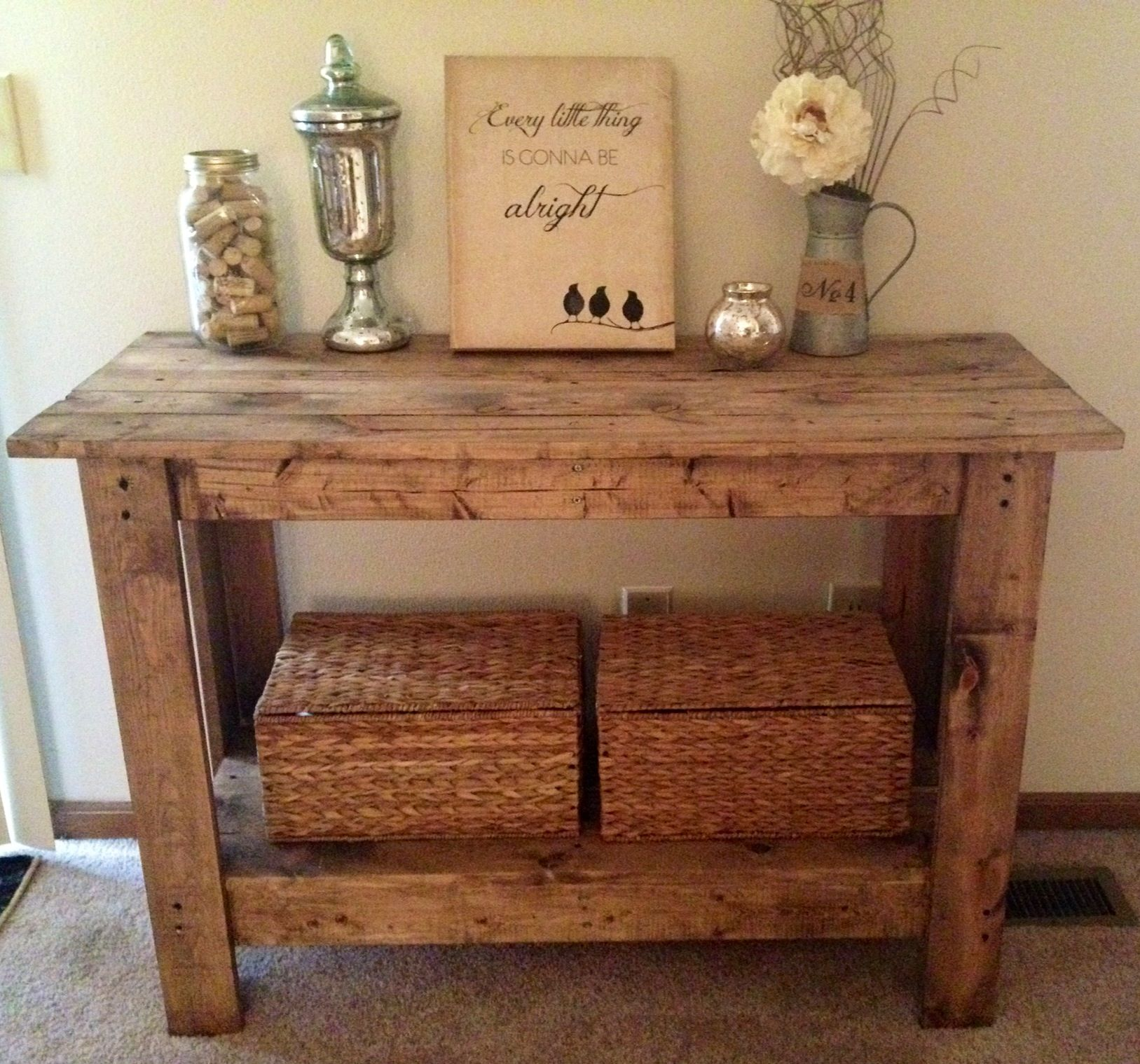 Rustic console table for the home pinterest rustic console rustic console table geotapseo Images