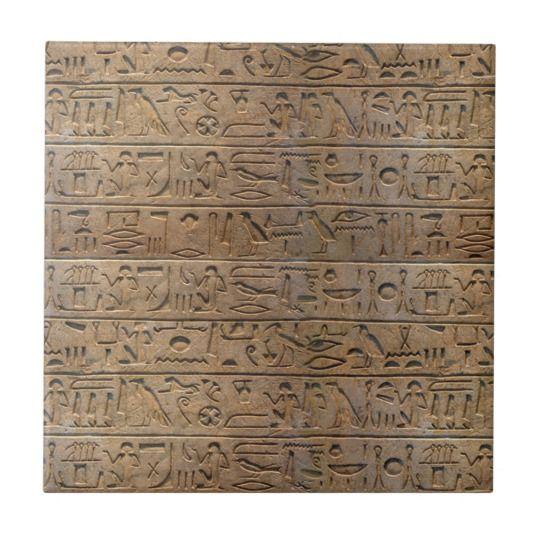 Ancient Egyptian Hieroglyphs Designer Gift Ceramic Tile | Pinterest ...