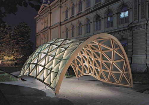 überdachung | Pensiline | Pinterest Holz Pavillon Wabenform