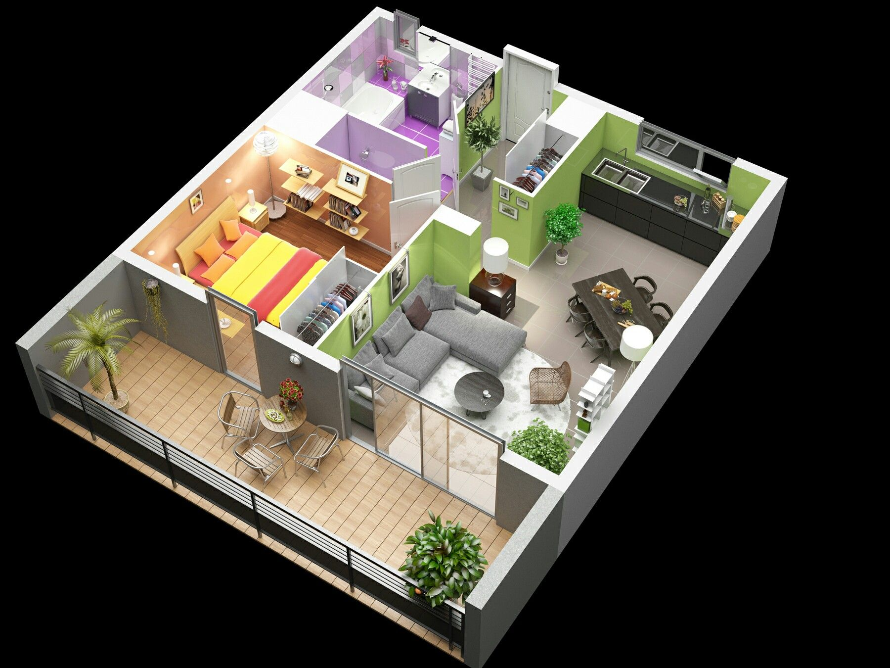 Impressive Floor Plans In 3d House Design Trends 3d Home Design House Design