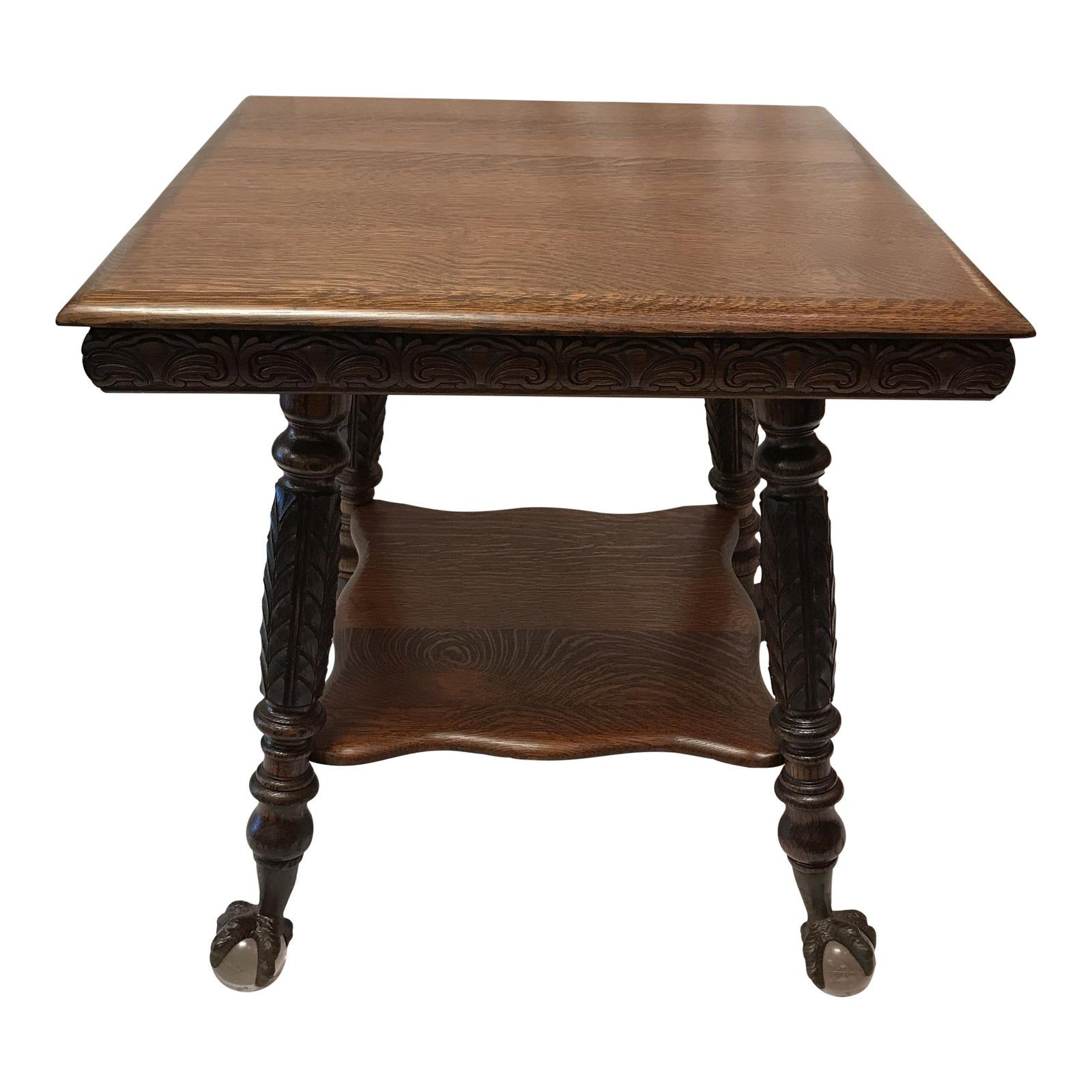 113 Reference Of Antique Sofa Table With Claw Feet In 2020 Antique Sofa Table Sofa Table Oak Table