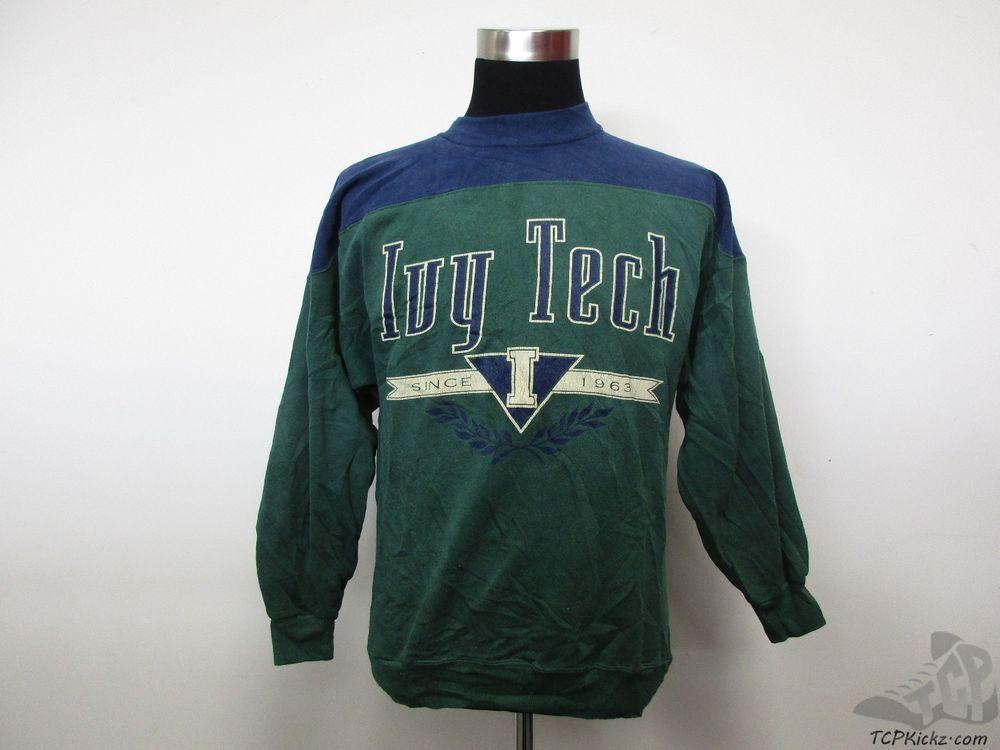 Vtg 90s Famous Ivy Tech Community College Crewneck