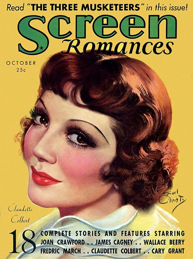 Earl Christy - 1935 Screen Romances - Claudette Colbert