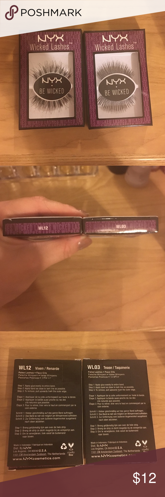 8d37ee14444 Nyx wicked lashes Brand new, box on left is WL12 vixen/renarde, box on  right WL03 tease/taquinerie Makeup False Eyelashes