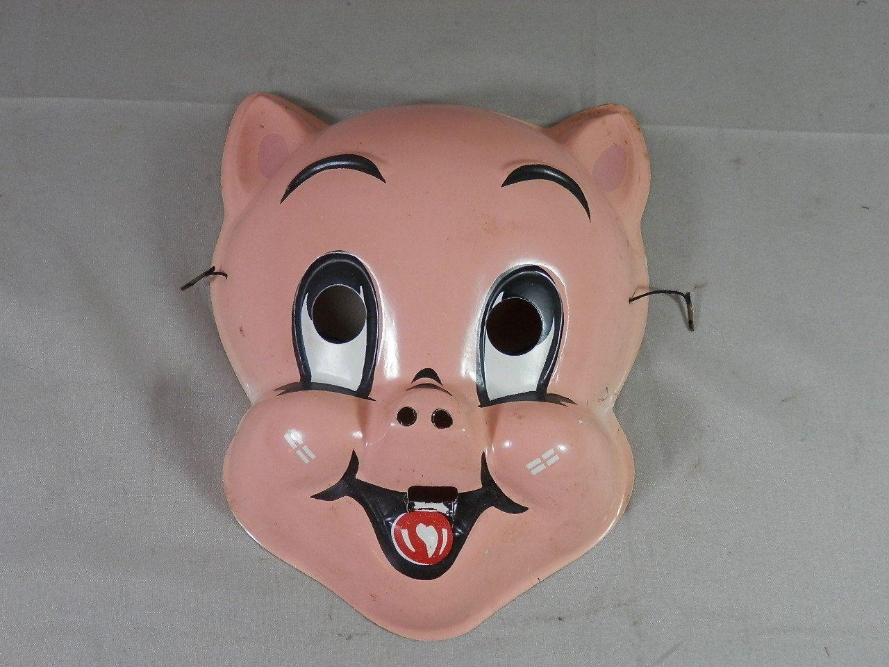 vintage porky pig mask only warner brothers collegeville