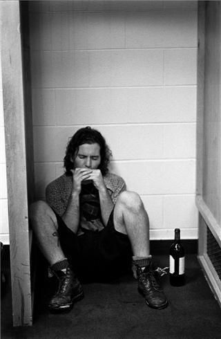 "Eddie Vedder. Story board. ""If my agent saw a picture of this, she'd be pissed as fuck, and wonder why he looks like that."" I am just using this as inspiration. And fan fiction includes the massive grunge that I grew up with so obviously I'd want to keep grunge alive."