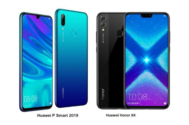 Tspn1 Huawei P Smart 2019 Vs Huawei Honor 8x Comparisons Huawei Smart Honor