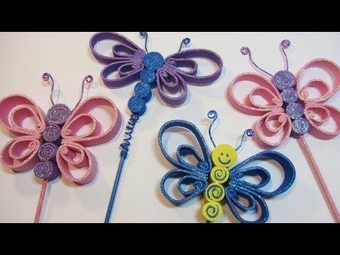 Tutorial mariposas de goma eva foami fomi v deos - Como hacer mariposas de goma eva ...